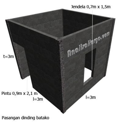 dinding batako