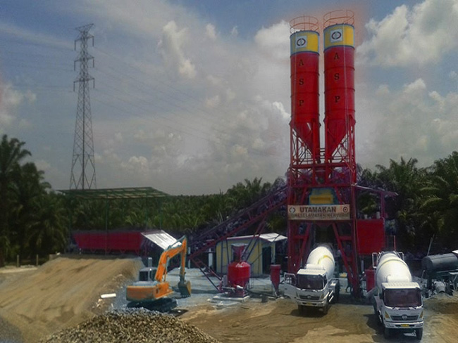 Batching Plant (concrete pan mixer)